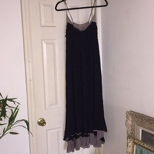 Dresses & Skirts - Black Layered Gauze Maxi Dress